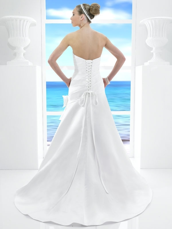 T481-spring-2011-classic-white-a-line-wedding-dress-strapless-floral-applique-on-hip-back.full
