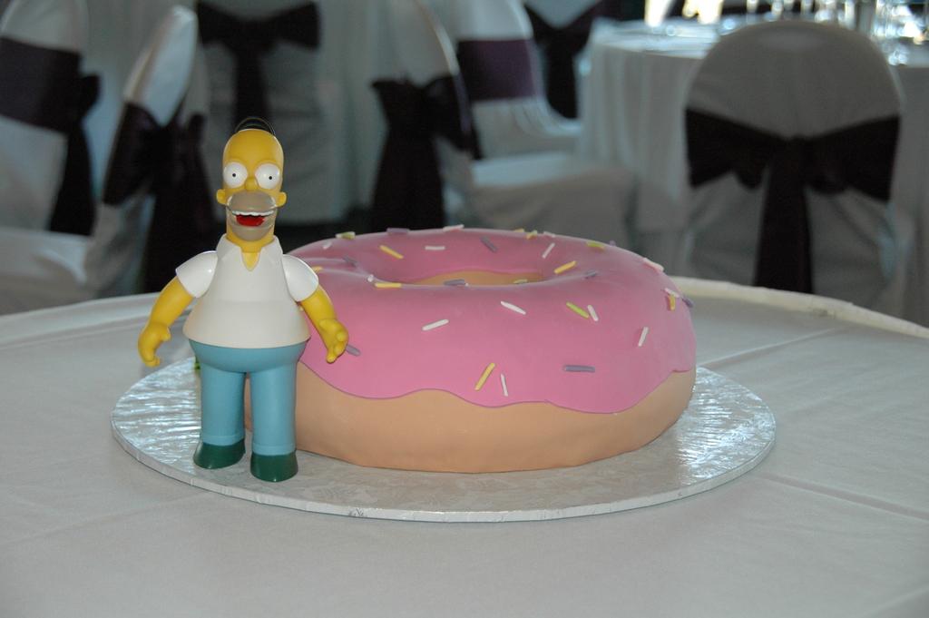 fun wedding cake ideas grooms cakes the simpsons