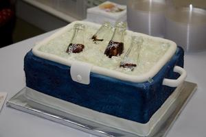 photo of grooms cake for the dr pepper lover