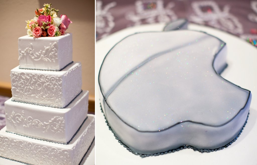 Romantic-real-wedding-classic-wedding-cake-techy-grooms-cake.full