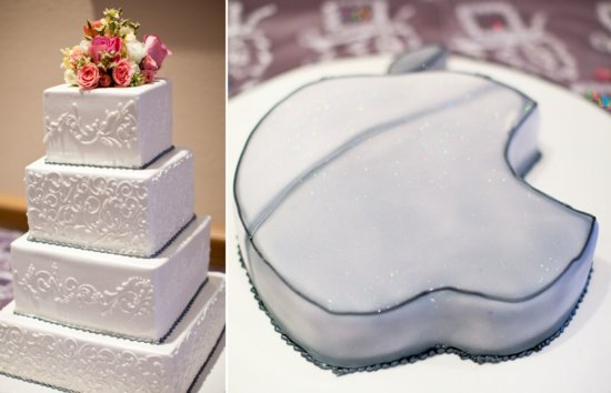 romantic real wedding classic wedding cake techy grooms cake