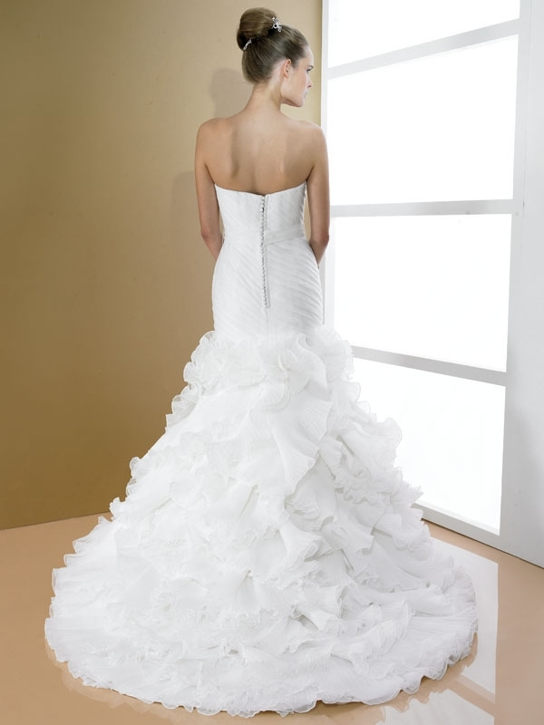 D7994-moonlight-bridal-white-wedding-dress-strapless-jeweled-bridal-belt-ruffled-skirt-back.full