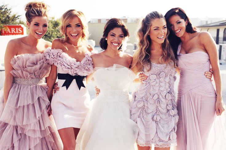 Astounding Gorgeous Wedding Hairstyles Bride With Bridesmaids Hairstyles For Women Draintrainus