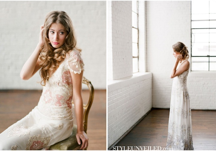 Romantic-wedding-hairstyles-bohemian-bride-in-claire-pettibone-2.full