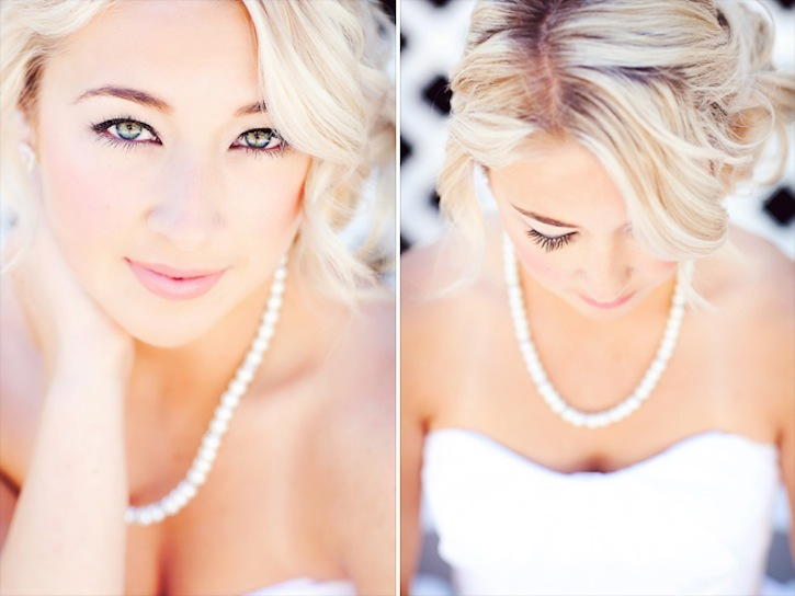 Glam wedding makeup