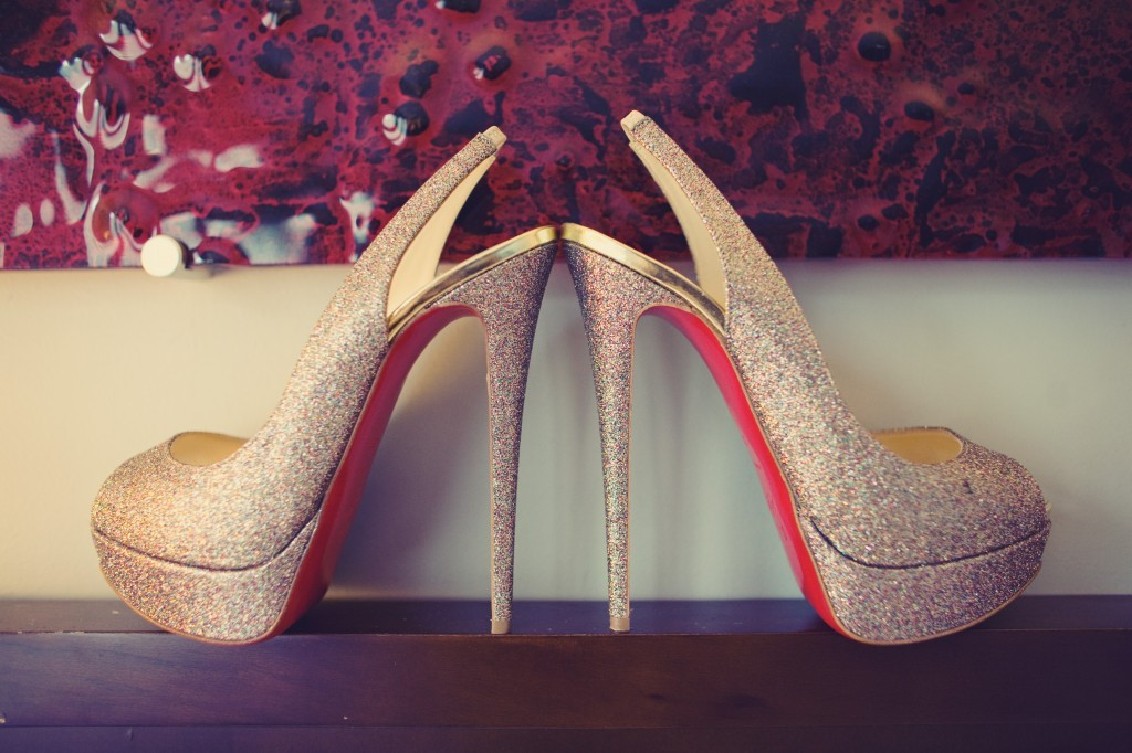 Glamourous-bridal-style-real-wedding-photos-christian-louboutin-shoes.full