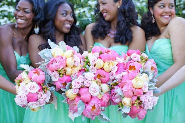 Peony Pink Bridesmaid Dresses
