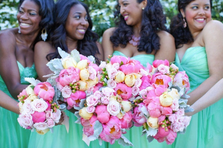 Aqua-bridesmaid-dresses-romantic-bouquets-pink-ivory-peonies.full