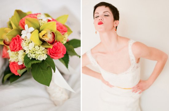 classic white wedding with bold pops of color inspiration 1