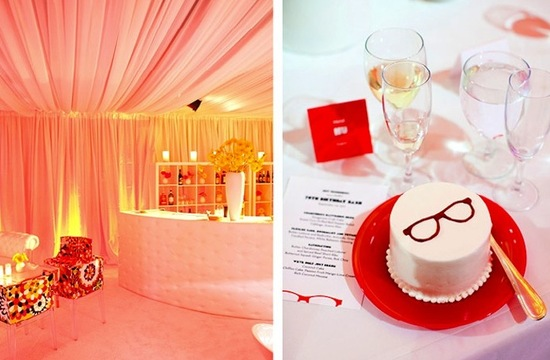 bold wedding colors modern reception decor tented venue