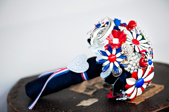 vintage americana bridal bouquet alternatives brooch bouquet