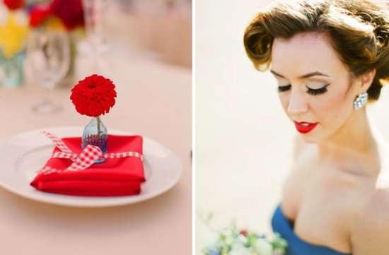 fourth of july wedding inspiration roundup retro bridal beauty
