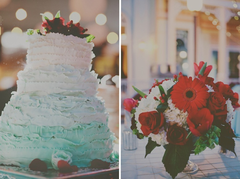 red white and blue wedding inspiration 4th of july weddings ombre cake