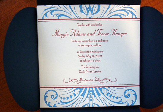 red white and blue wedding inspiration 4th of july weddings elegant invitations letterpress 1