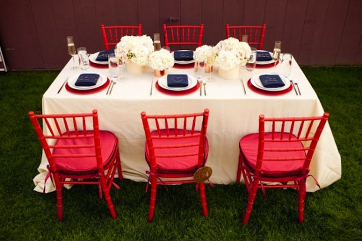 white and blue wedding inspiration 4th of july weddings table setting