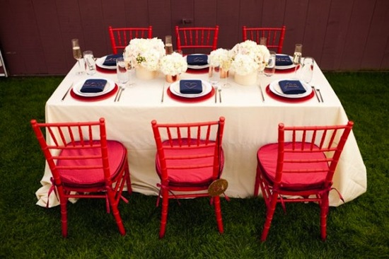 red white and blue wedding inspiration 4th of july weddings table setting