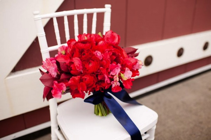 Red White And Blue Wedding Inspiration 4th Of July Weddings Bridal Bouquet