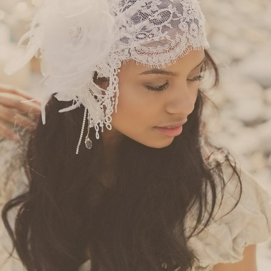 vintage bridal headpieces lace cap