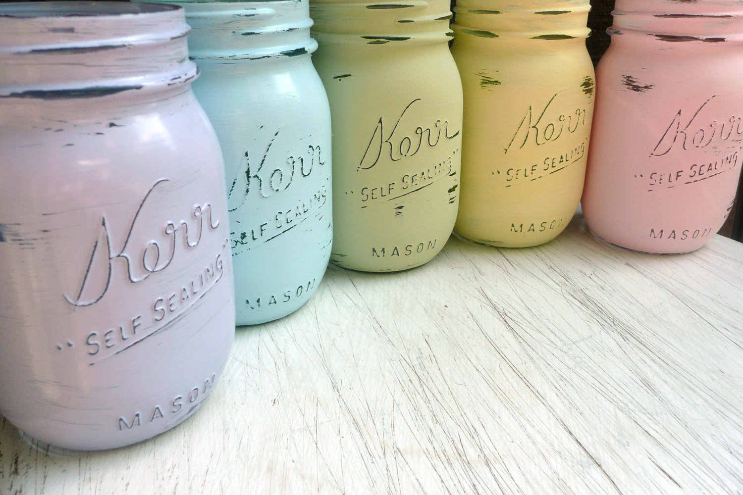 mason jars painted - photo #38