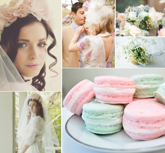 downton abbey vintage wedding ideas pastels florals