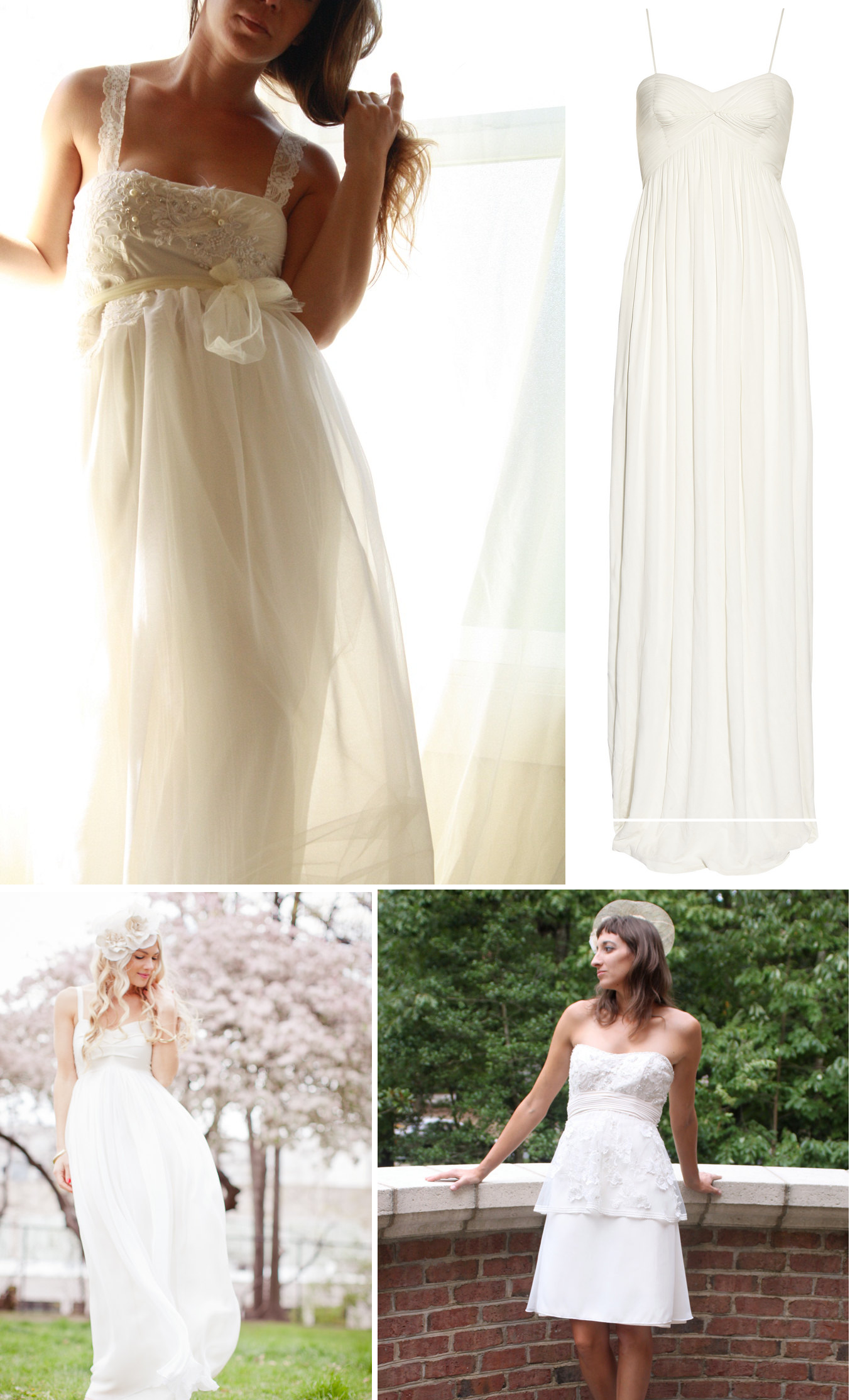 Empire waist wedding dress vintage inspired bridal style onewed com