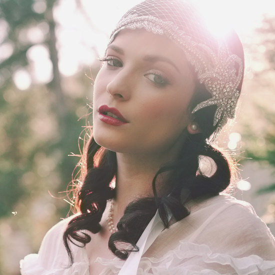 elegant bridal headpieces vintage inspired bride
