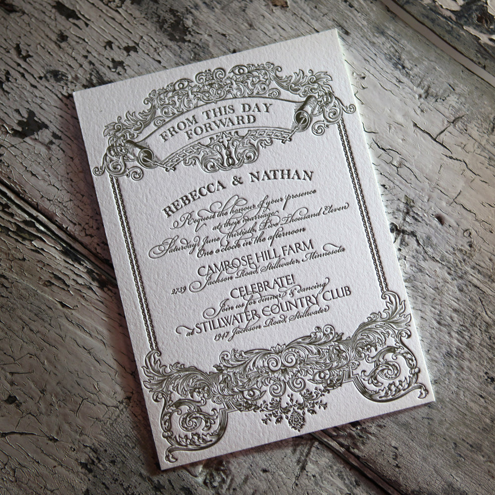 downton abbey vintage wedding inspiration letterpress wedding