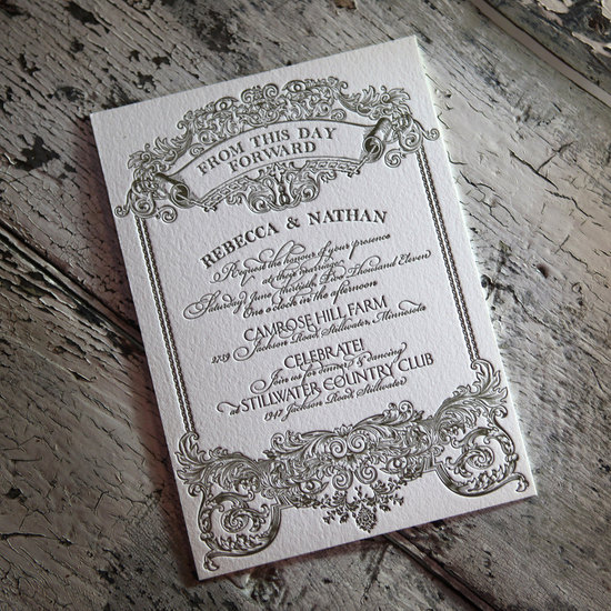 downton abbey vintage wedding inspiration letterpress wedding invitations