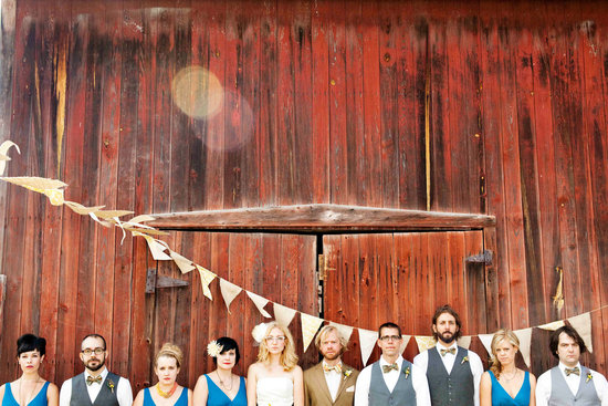 rustic wedding bunting reception decor 1
