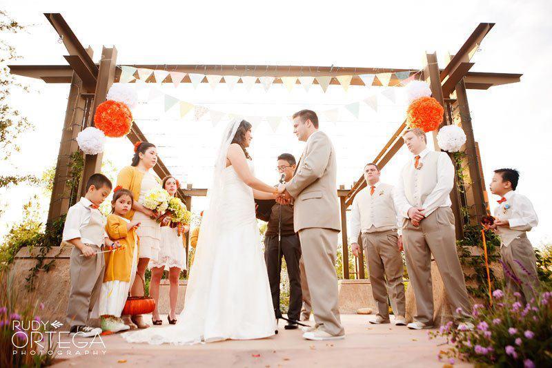 Handmade Wedding Ideas Reception Decor Bunting Banners Orange White