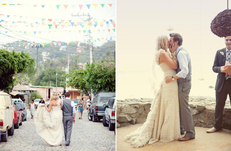 Destination wedding decor ideas bunting for Ideas for destination wedding