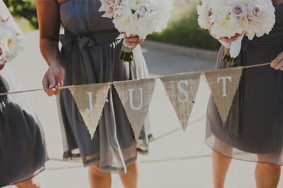 handmade wedding ideas reception decor bunting banners rustic burlap