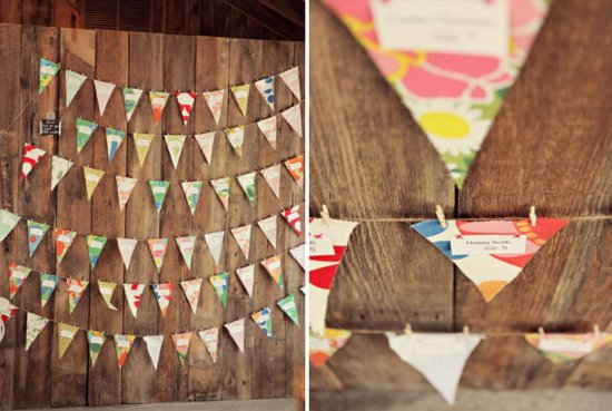 colorful outdoor wedding reception bunting decor colorful 2