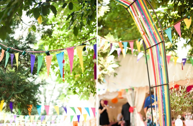 Colorful-outdoor-wedding-reception-bunting-decor-1.full