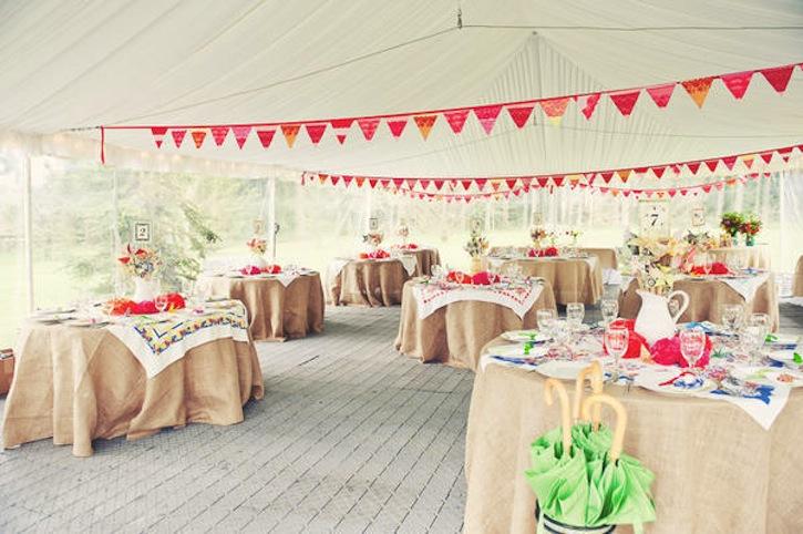 Handmade wedding ideas reception decor bunting banners 4 for Homemade wedding decorations