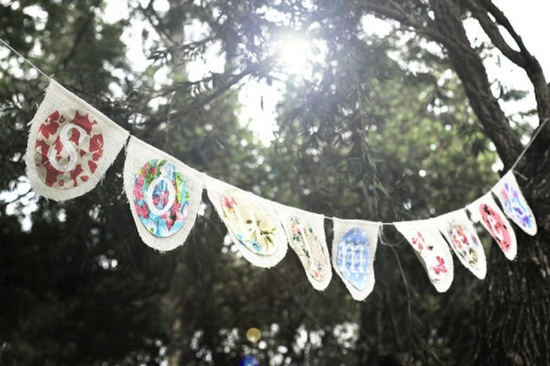 handmade wedding ideas reception decor bunting banners 1