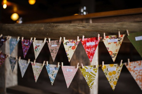 handmade wedding ideas reception decor bunting banners 2