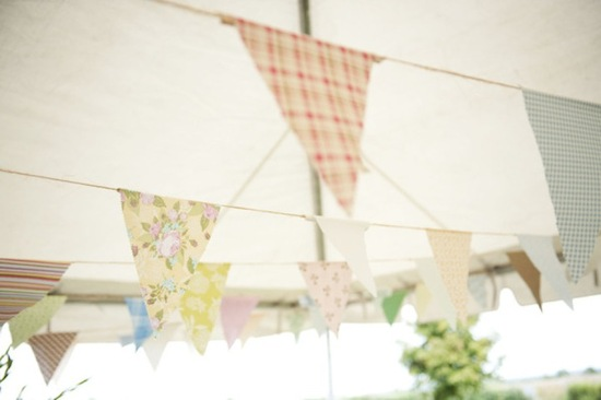 handmade wedding ideas reception decor bunting banners pastels
