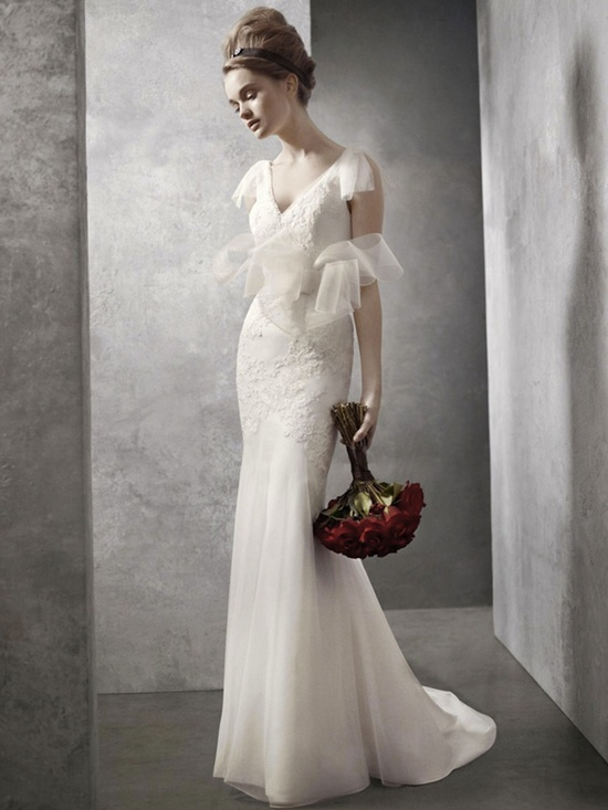 fall 2012 wedding dress White by Vera Wang bridal gowns vw351021