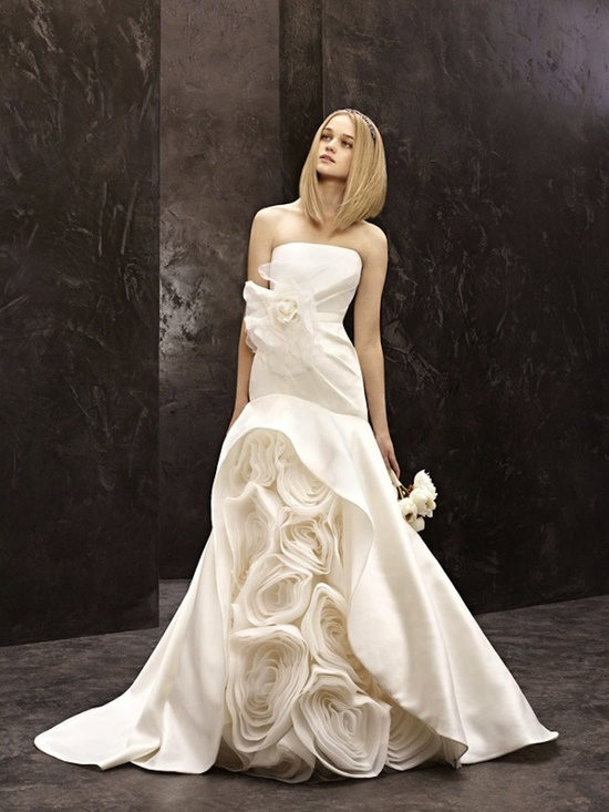 fall 2012 wedding dress White by Vera Wang bridal gowns strapless mermaid vw351118
