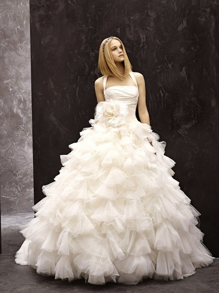 Fall 2012 wedding dress white by vera wang bridal gowns for Affordable vera wang wedding dresses