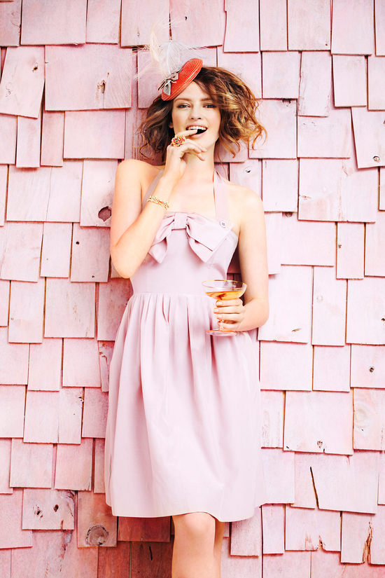 blush pink bridesmaid dress bhldn