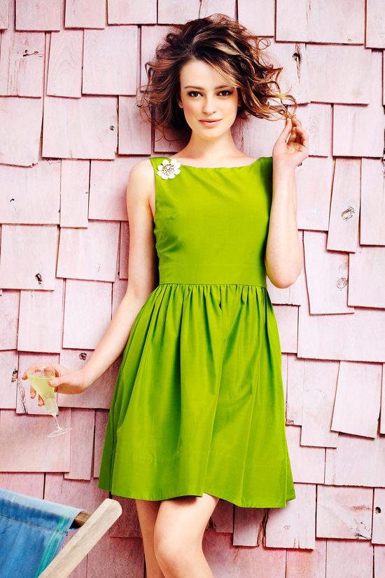 Фото платьев цвета лайм салатовый