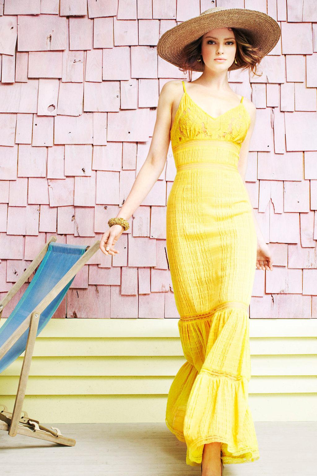 Bright-yellow-bridesmaid-dress-long-summer-weddings.full