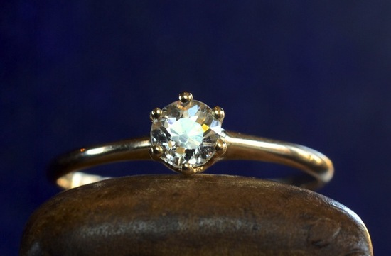 antique engagement ring for vintage brides simple setting