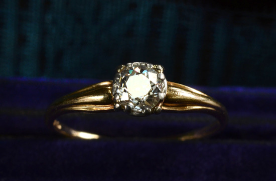 classic vintage engagement ring round diamond