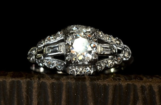 vintage engagement rings unique wedding jewelry 1930s art deco edwardian platinum