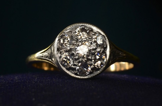 vintage engagement rings unique wedding jewelry 1920s art deco cluster