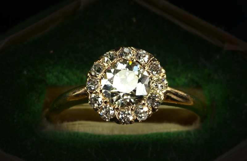 vintage engagement rings unique wedding jewelry 1890s late victorian cluster 1