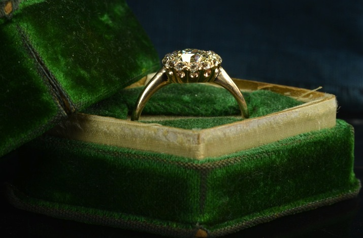 vintage engagement rings unique wedding jewelry 1890s late victorian cluster